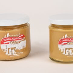 maple cream in glass jars