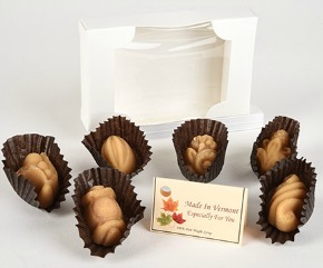 6 fancy shaped boxed maple candies