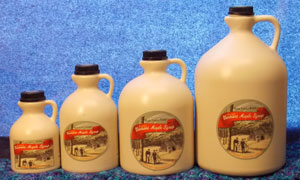 Plastic Jugs of Maple Syrup