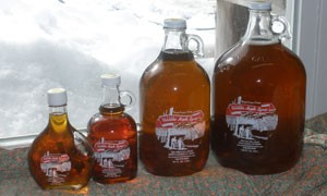 Glass Jugs of Vermont Maple Syrup